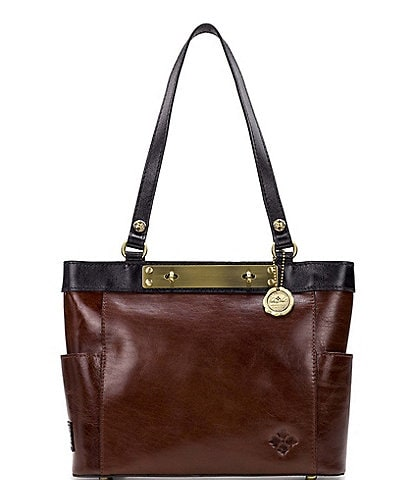 Patricia Nash British Vegetable Tanned Colorblock Collection Rayleigh Tote Bag