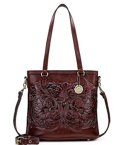 Patricia Nash British Vegetable Tanned Tooled Collection North South Tote Bag