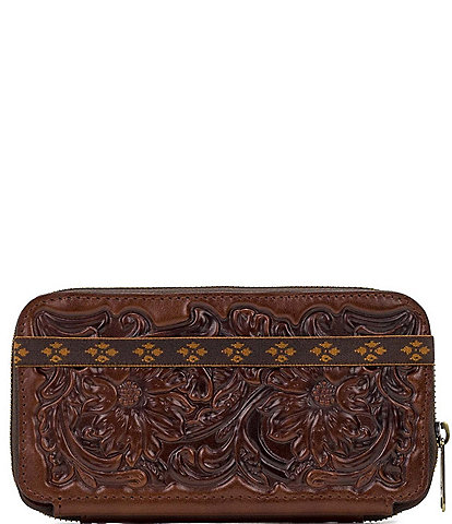 Patricia Nash British Vegetable Tanned Tooled Collection Oria Wallet