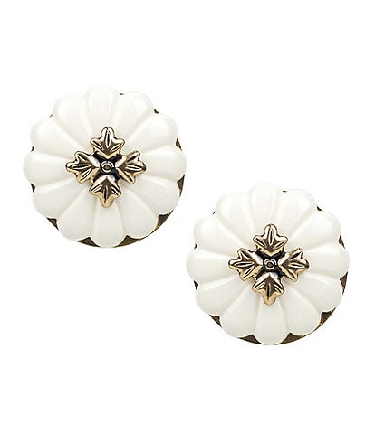 Patricia Nash Button Clip-On Earrings