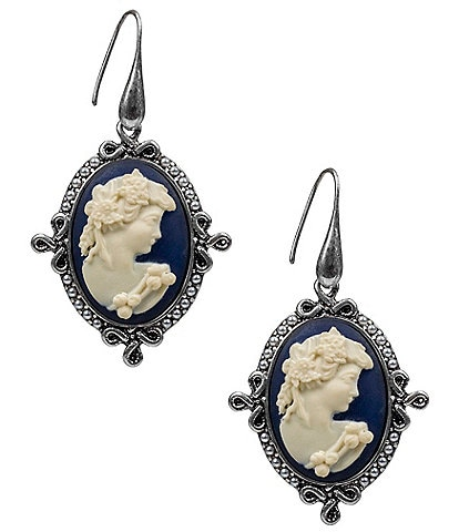 Patricia Nash Cameo Drop Earrings