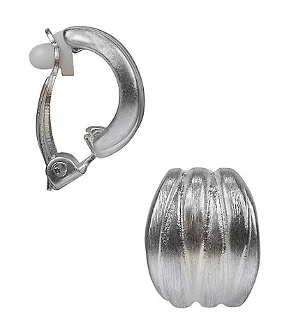 Patricia Nash Clip-On Clustered Hoop Earrings