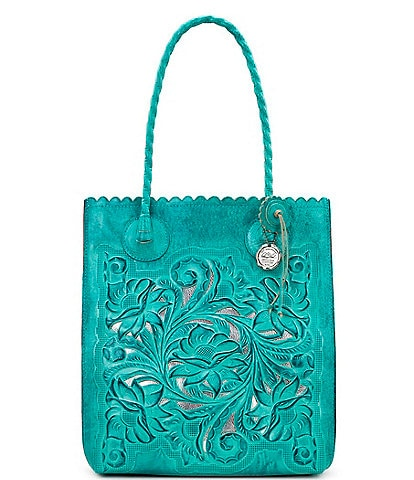 Patricia Nash Cut Out Tooling Collection Cavot Floral Tote Bag