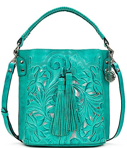 Patricia Nash Cut Out Tooling Collection Otavia Floral Bucket Bag