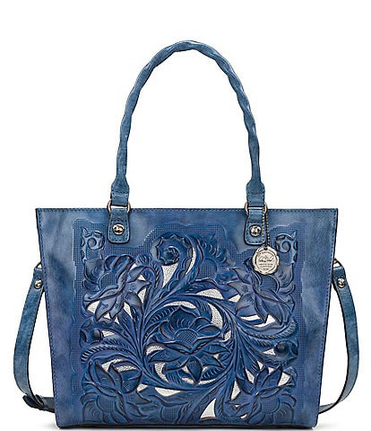 Patricia Nash Cut Out Tooling Collection Zancona Tote Bag