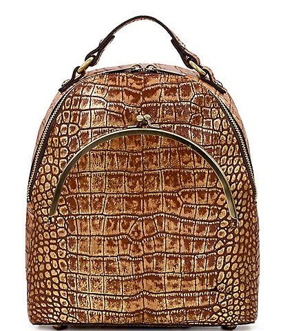 Patricia Nash Distressed Croco Collection Montioni Backpack