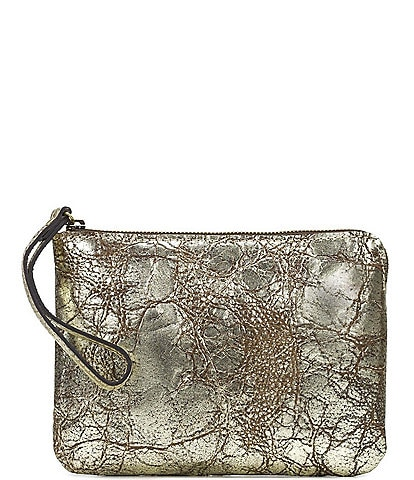 Patricia Nash Distressed Metallic Collection Cassini Wristlet