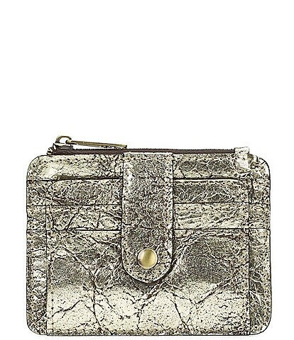 Patricia Nash Distressed Metallic Collection Cassis Card Case Wallet