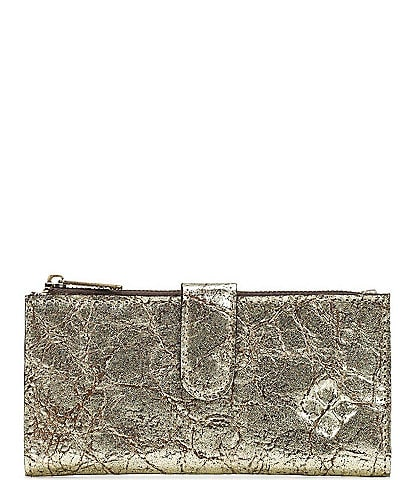 Patricia Nash Distressed Metallic Collection Nazari Bifold Wallet