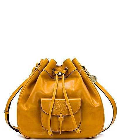 Patricia Nash Distressed Vintage Collection Giorgia Leather Drawstring Bucket Bag