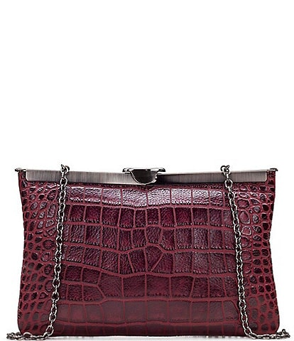Patricia Nash Distressed Vintage Croco Collection Asher Clutch Bag