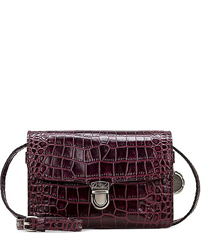 Patricia Nash Distressed Vintage Crocodile Collection Belizzi Crossbody Bag