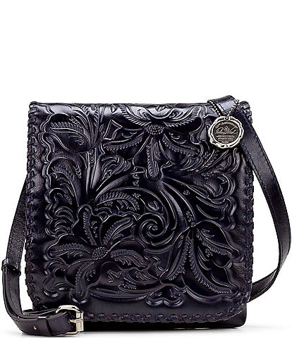 Patricia Nash Distressed Vintage Crocodile Collection Granada Crossbody Bag