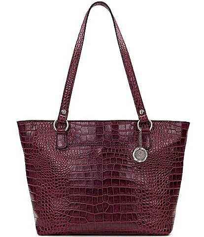 Patricia Nash Distressed Vintage Crocodile Collection Lindsell Tote Bag