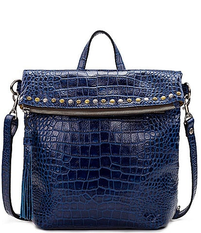 Patricia Nash Distressed Vintage Crocodile Embossed Luzille Backpack