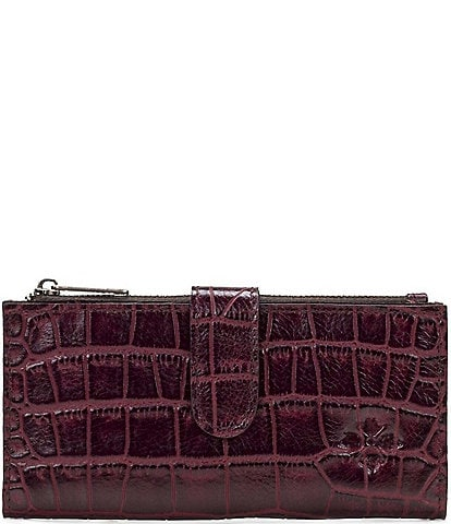 Patricia Nash Distressed Vintage Crocodile Nazari Bi-Fold Wallet
