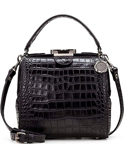 Patricia Nash Distressed Vintage Crocodile Nela Satchel Bag