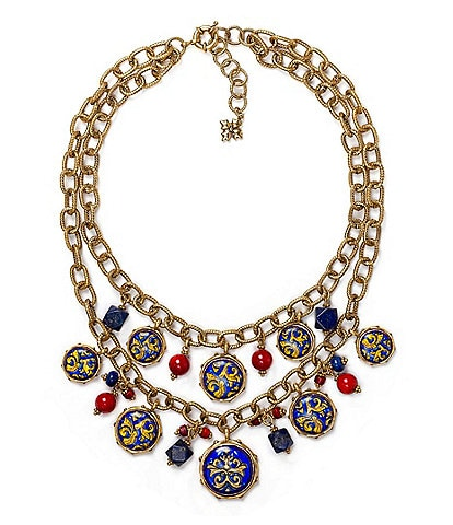 Patricia Nash Double Chain Statement Necklace