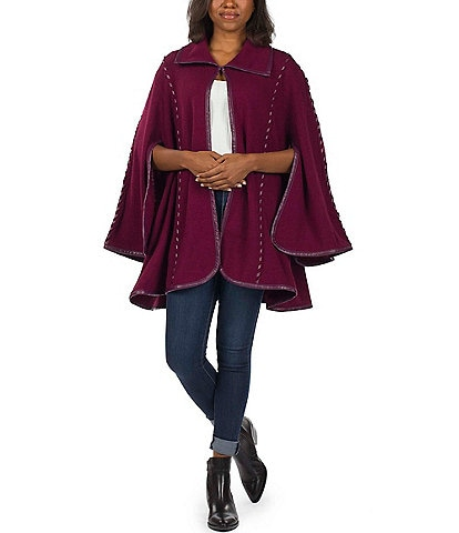 Patricia Nash Embroidered Open Sleeved Cape