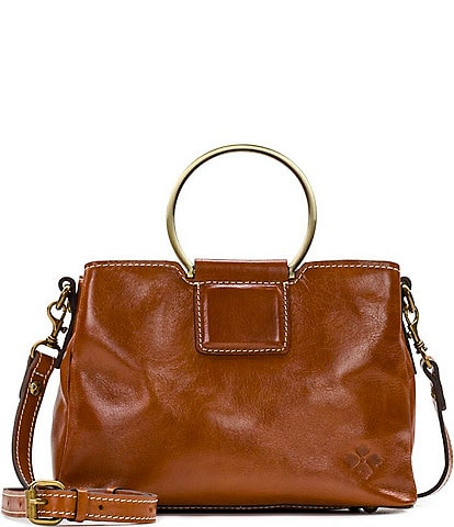 Patricia Nash Empoli Ring Handle Leather Satchel Bag