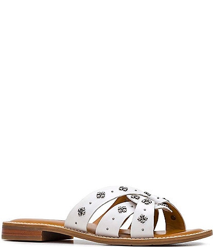Patricia Nash Felicita Leather Studded Slide Sandals