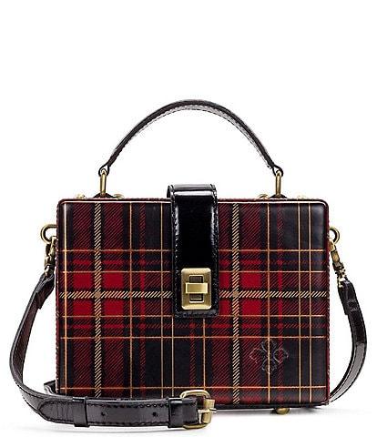 Patricia Nash Gold Foil Tartan Collection Tauria Box Cross-Body Bag
