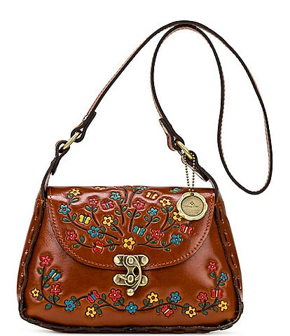 Patricia Nash Hand Painted Floral Collection Micaela Leather Shoulder Bag