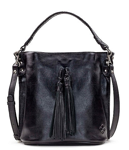 Patricia Nash Heritage Collection Otavia Fringe Leather Bucket Bag