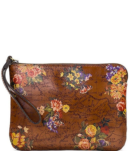Patricia Nash Heritage Floral Map Collection Cassini Wristlet