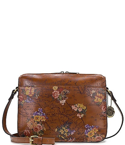 Patricia Nash Heritage Floral Map Collection Nazaire Crossbody Bag