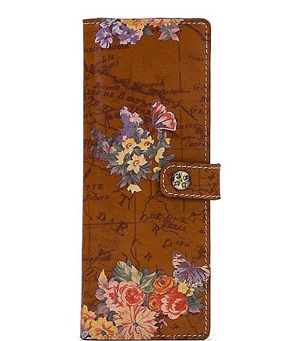 Patricia Nash Heritage Floral Map Collection Rosso Fiore Marotta Card Holder