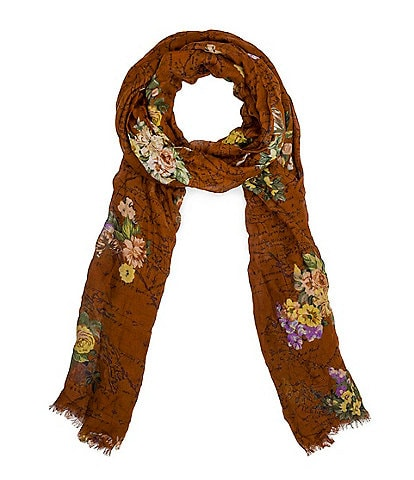 Patricia Nash Heritage Floral Map Collection Scarf