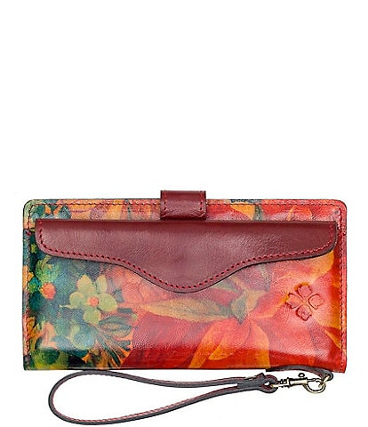 Patricia Nash Heritage Multi Print Collection Valentia Slim Organizer Wristlet