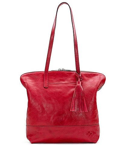 Patricia Nash Leather Brights Collection Rochelle Tassel Satchel