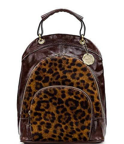 Patricia Nash Leopard Collection Alencon Backpack