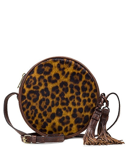 Patricia Nash Leopard Collection Scafati Leopard Circle Crossbody Bag