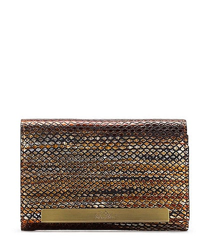 Patricia Nash Metallic Snake Collection Cametti Wallet