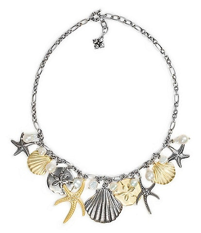 Patricia Nash Oceanic Charm Statement Necklace