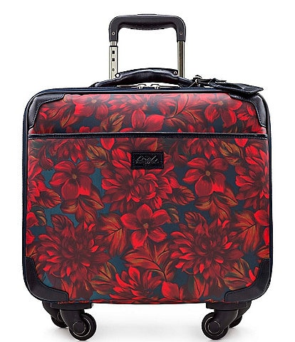 Patricia Nash Patina Coated Linen Canvas English Rustic Mums Collection Velino Trolley Wheeled Carry-On Spinner