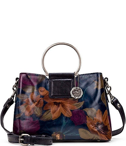 Patricia Nash Peruvian Painting Collection Empoli Ring Handle Satchel Bag