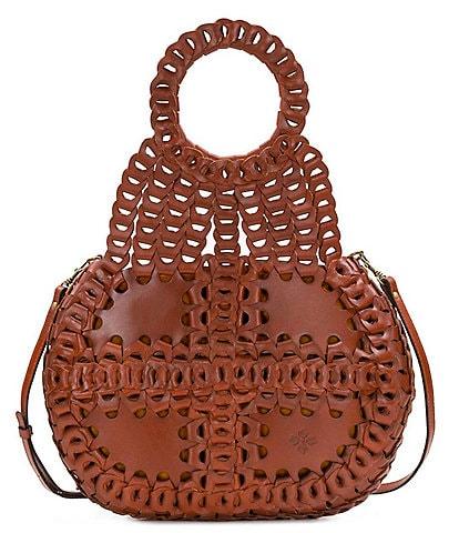 Patricia Nash Pisticci Woven Leather Shoulder Bag
