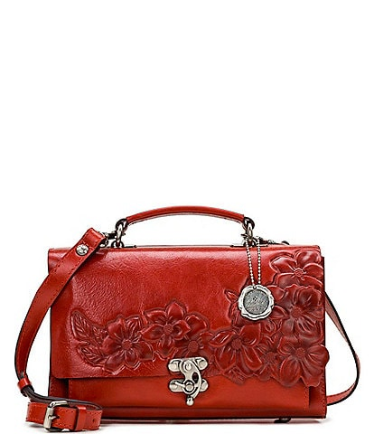 Patricia Nash Red Ochre Collection Charonne Satchel Bag