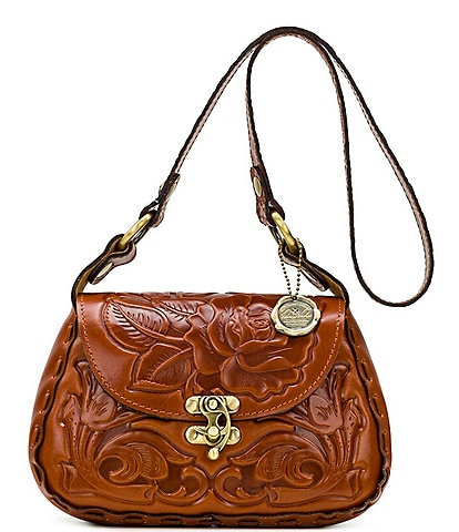 Patricia Nash Rose Tooling Collection Micaela Leather Shoulder Bag