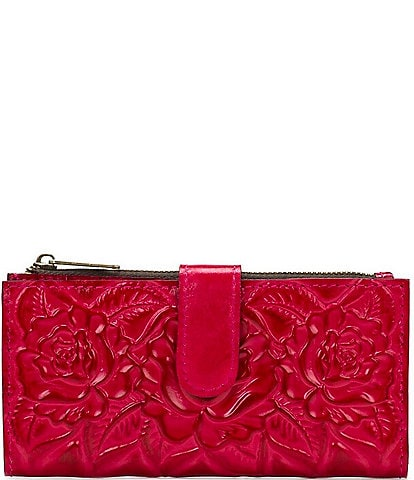 Patricia Nash Rose Tooling Collection Nazari Floral Leather Wallet