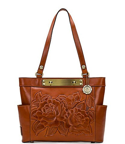 Patricia Nash Rose Tooling Collection Rayleigh Leather Tote Bag