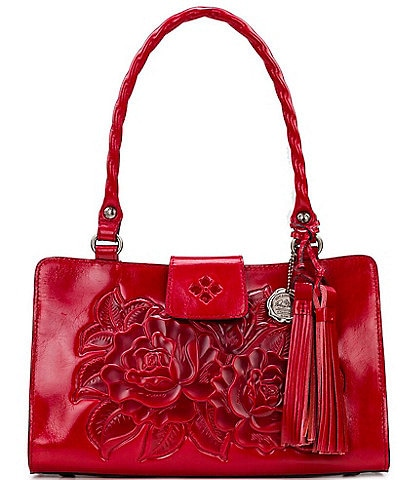 Patricia Nash Rose Tooling Collection Rienzo Shoulder Bag