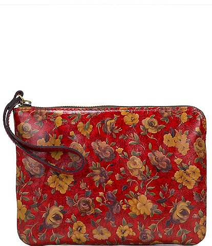 Patricia Nash Rosso Fiore Collection Cassini Wristlet