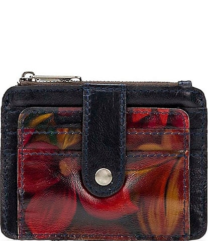 Patricia Nash Rustic Mums Collection Cassis Wallet