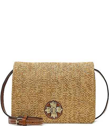 Patricia Nash Seasonal Collection Consilina Straw Organizer Crossbody Bag