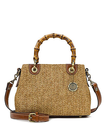 Patricia Nash Seasonal Collection Empoli Bamboo Handle Satchel Bag